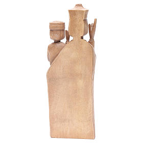 Madonna bimbo stile romanico 28cm legno Valgardena patinato s4