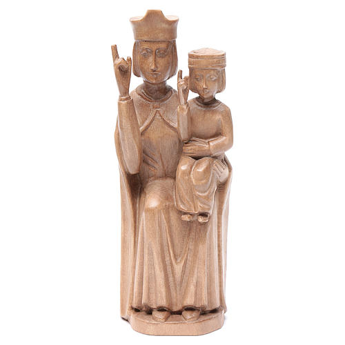 Madonna bimbo stile romanico 28cm legno Valgardena patinato 1