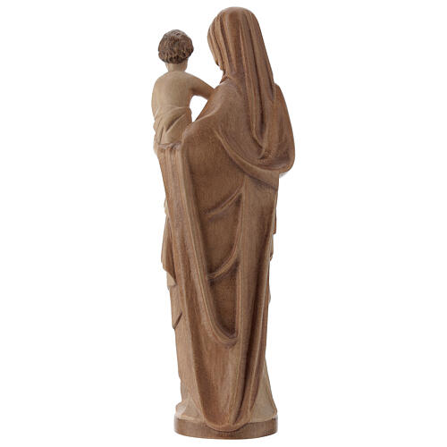 Virgin Mary statue with baby, gothic style 25cm, multi-patinated 5