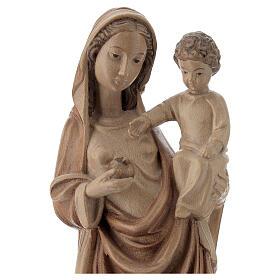 Madonna bimbo stile gotico 25cm legno Valgardena multipatinato s2