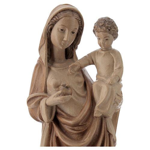 Madonna bimbo stile gotico 25cm legno Valgardena multipatinato 2