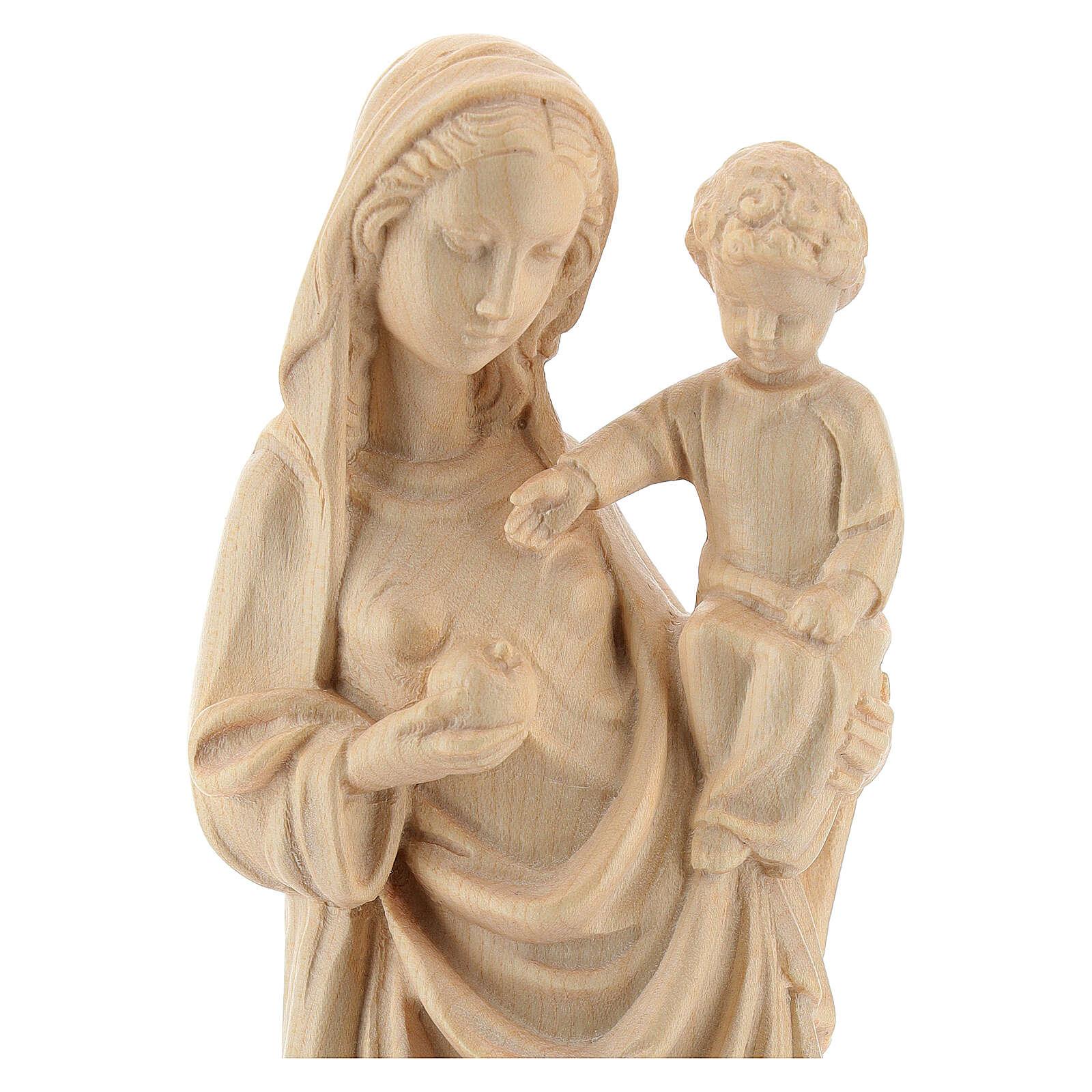 Madonna bimbo stile gotico 25cm legno Valgardena naturale cerato 4