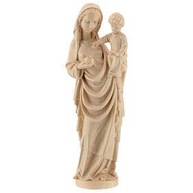 Madonna bimbo stile gotico 25cm legno Valgardena naturale cerato s1