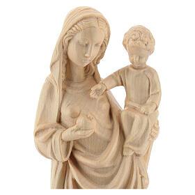 Madonna bimbo stile gotico 25cm legno Valgardena naturale cerato s2
