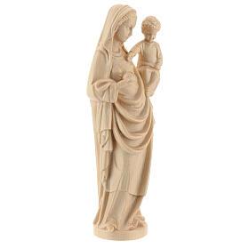 Madonna bimbo stile gotico 25cm legno Valgardena naturale cerato s4