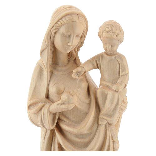 Madonna bimbo stile gotico 25cm legno Valgardena naturale cerato 2