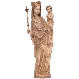 Madonna bimbo scettro 25 cm stile gotico legno multipatinato s1