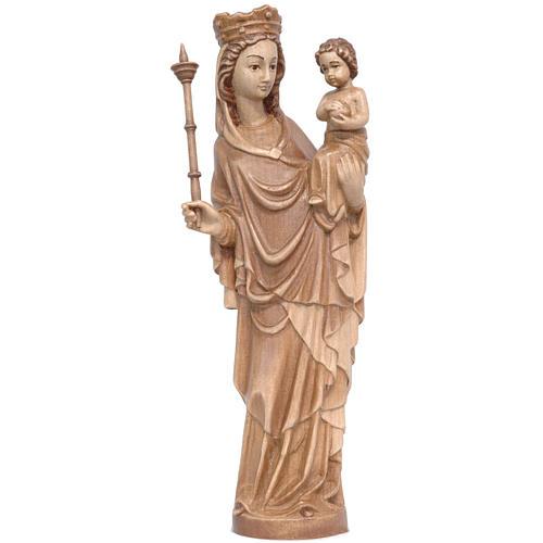 Madonna bimbo scettro 25 cm stile gotico legno multipatinato 1