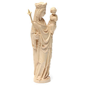 Virgin Mary statue with baby and sceptre, gothic style, natural s5