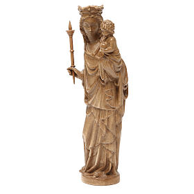 Madonna bimbo scettro 25 cm stile gotico legno patinato s2