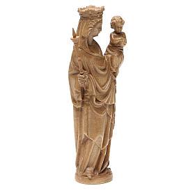Madonna bimbo scettro 25 cm stile gotico legno patinato s4