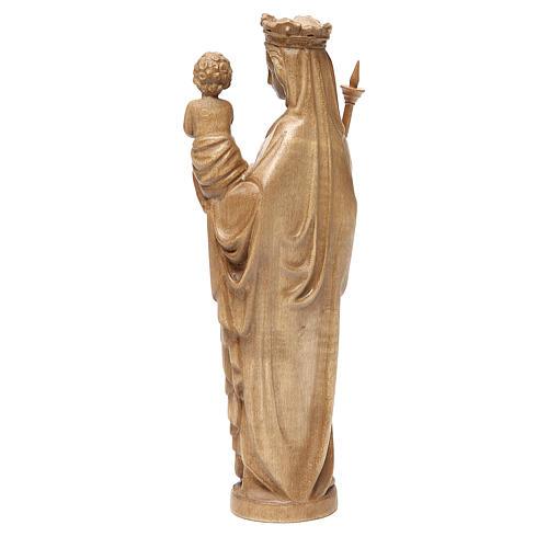 Madonna bimbo scettro 25 cm stile gotico legno patinato 3