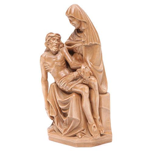 Pietà statue in patinated Valgardena wood 2