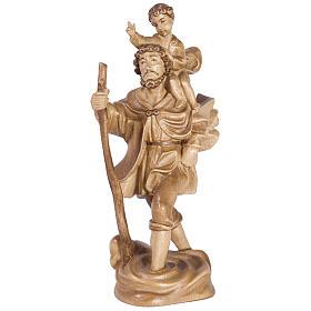 San Cristoforo con bimbo legno Valgardena multipatinato s1