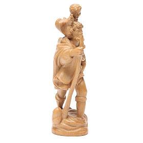 San Cristoforo con bimbo legno Valgardena patinato s4