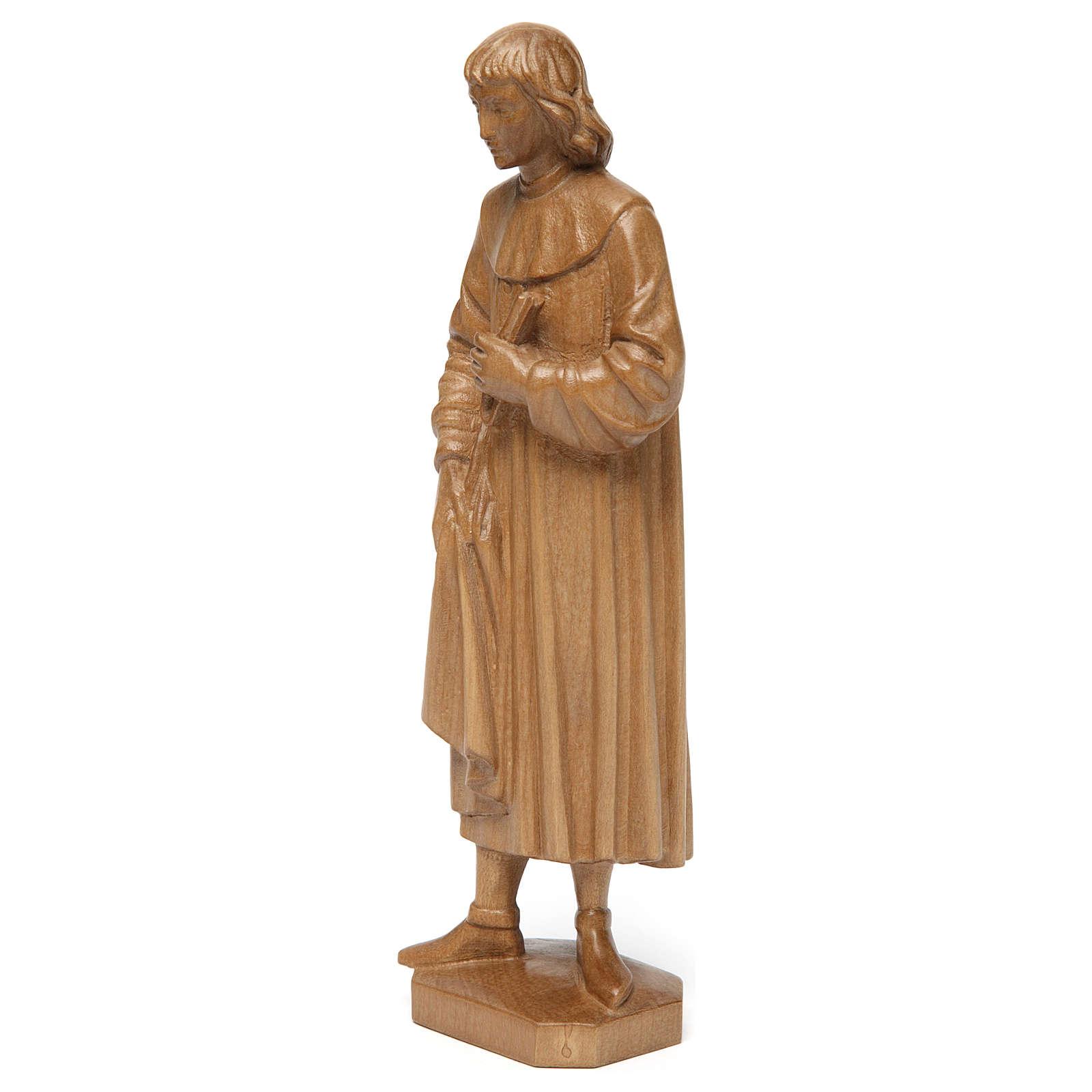 San Cosimo 25 cm legno Valgardena patinato 4
