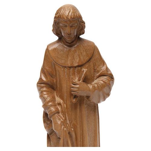 San Cosimo 25 cm legno Valgardena patinato 2