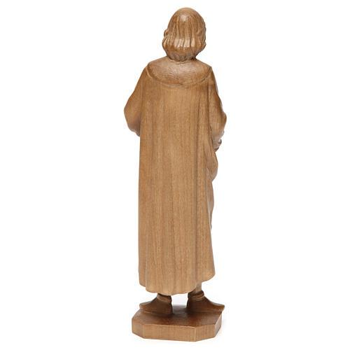 San Cosimo 25 cm legno Valgardena patinato 5