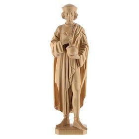 San Damiano con mortaio 25 cm legno Valgardena naturale cerato s1