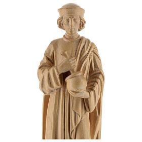 San Damiano con mortaio 25 cm legno Valgardena naturale cerato s2
