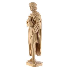 San Damiano con mortaio 25 cm legno Valgardena naturale cerato s3