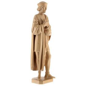 San Damiano con mortaio 25 cm legno Valgardena naturale cerato s4