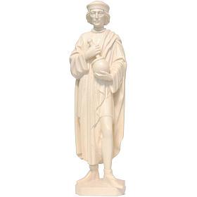 Saint Damien with mortar 25cm in natural wax Valgardena wood s1