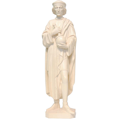 Saint Damien with mortar 25cm in natural wax Valgardena wood 1