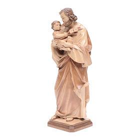 San José de Guido Reni de madera multi-patinada de la Val Gardena s2