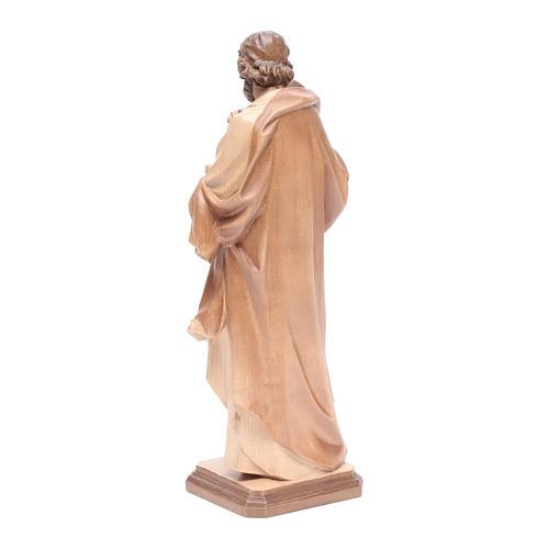 San José de Guido Reni de madera multi-patinada de la Val Gardena 3