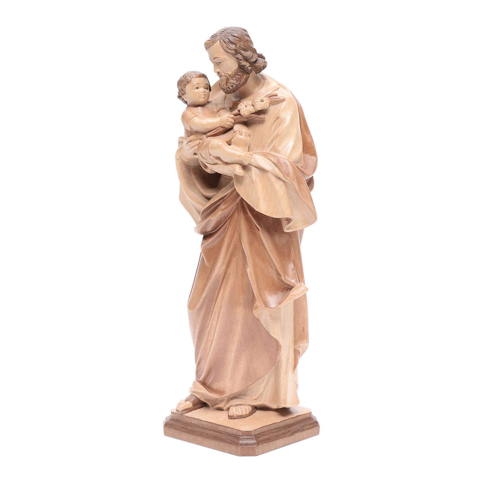 Saint Joseph de Guido Reni bois patiné multinuance Valgardena 4