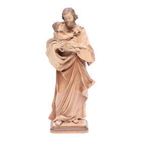 Saint Joseph de Guido Reni bois patiné multinuance Valgardena s1