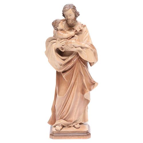 San Giuseppe di Guido Reni legno Valgardena multipatinato 1