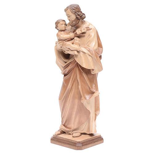 San Giuseppe di Guido Reni legno Valgardena multipatinato 2