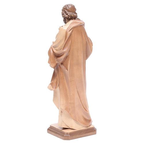 San Giuseppe di Guido Reni legno Valgardena multipatinato 3