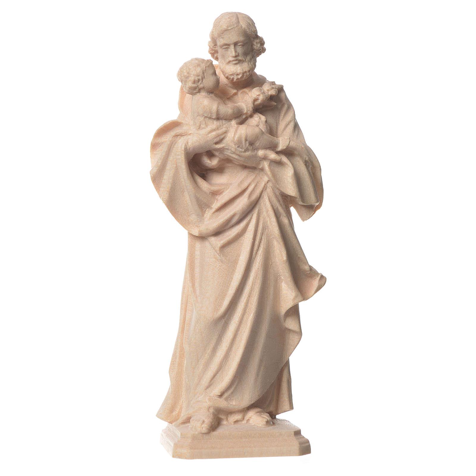 Heiliger Josef von Guido Reni Grödnertal Naturholz 4