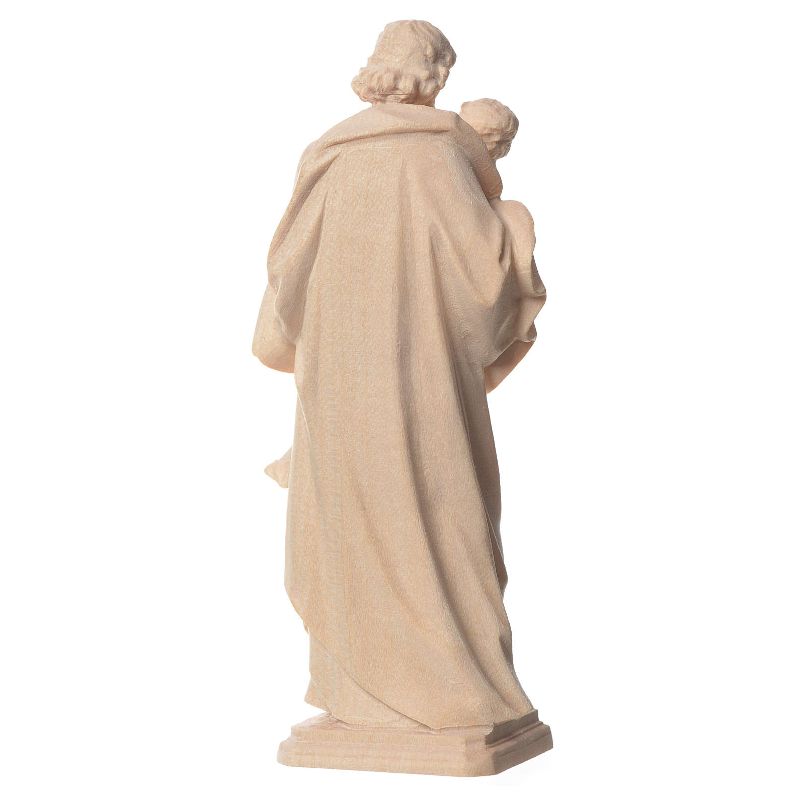 San Giuseppe di Guido Reni legno Valgardena naturale 4