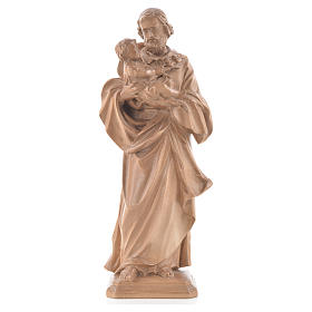 Natural wood statues and figures: Guido Reni's Saint Joseph in patinated Valgardena wood