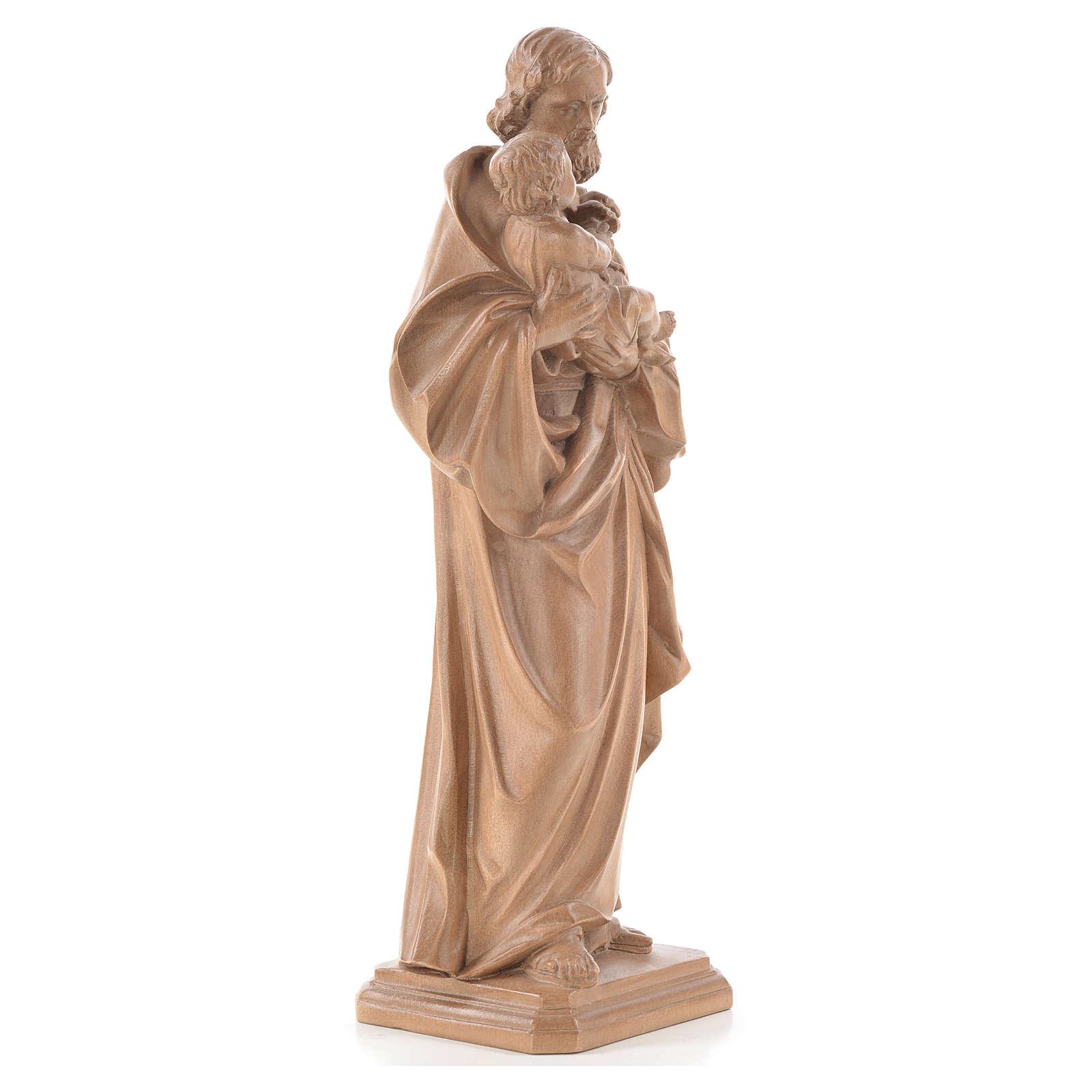 Guido Reni's Saint Joseph in patinated Valgardena wood 4