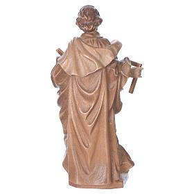 San Giuseppe lavoratore legno Valgardena multipatinato s4