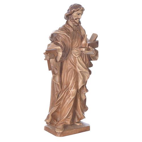San Giuseppe lavoratore legno Valgardena multipatinato 3
