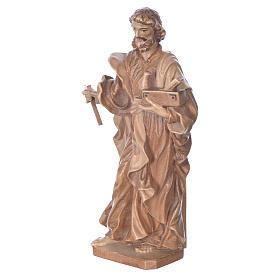 São José trabalhador madeira Val Gardena pátina múltipla
