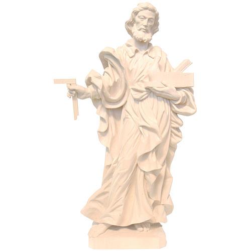 San Giuseppe lavoratore legno Valgardena naturale cerato 1