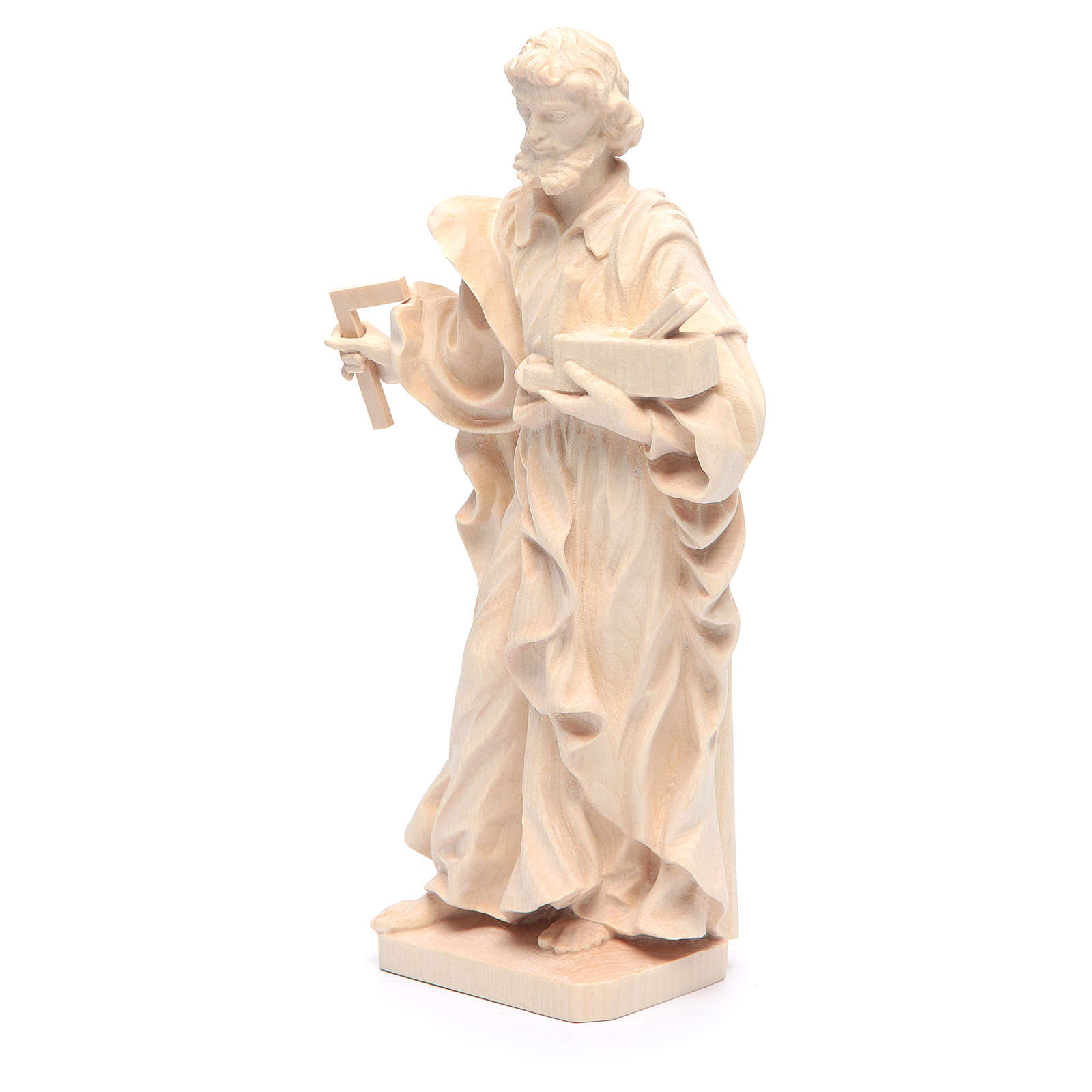 Estatua San José trabajador de madera natural de la Val Gardena 4