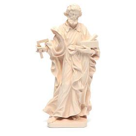 Imágenes de madera natural: Estatua San José trabajador de madera natural de la Val Gardena