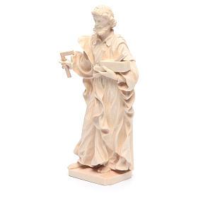 Estatua San José trabajador de madera natural de la Val Gardena s2