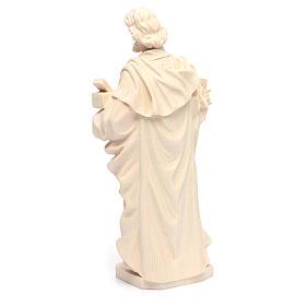 Estatua San José trabajador de madera natural de la Val Gardena s4