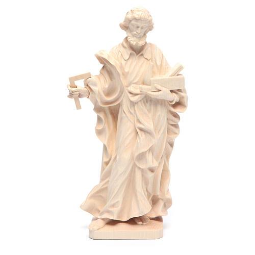 Estatua San José trabajador de madera natural de la Val Gardena 1
