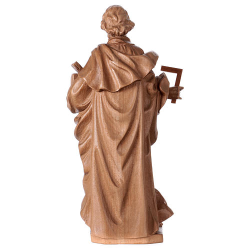 Saint Joseph the worker statue in patinated Valgardena wood 5