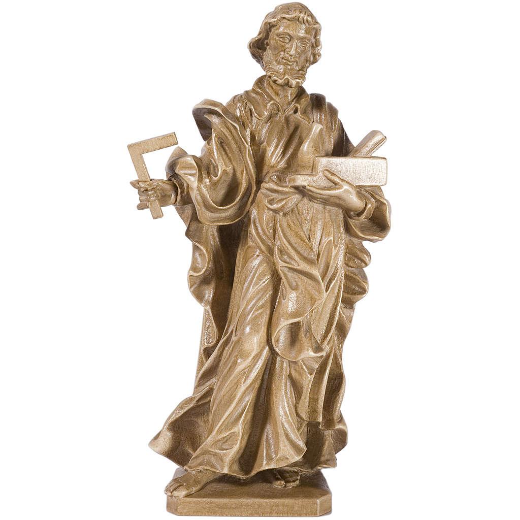 Saint Joseph travailleur bois patiné Valgardena 4